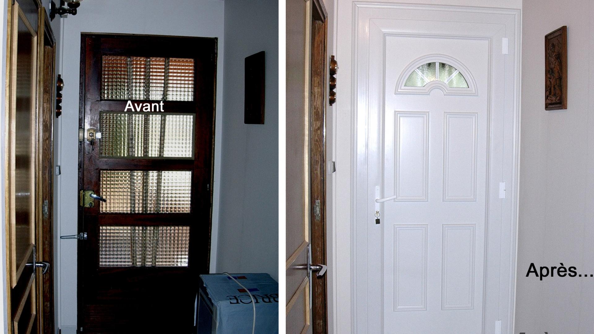 avant/après porte d'entrée